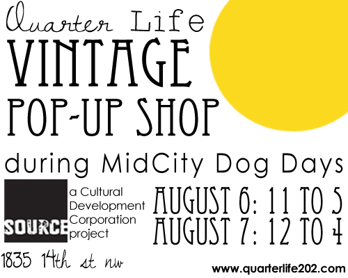 Quarter Life vintage pop-up shop at Source