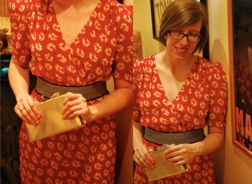 Modern vintage red vintage dress