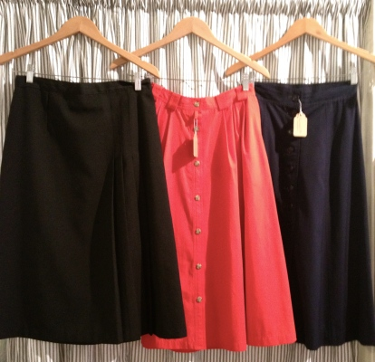 Knee-length vintage skirts