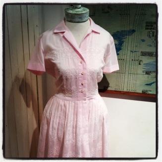 Pink vintage day dress