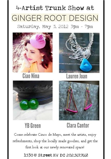 Ginger Root Design Trunk Show