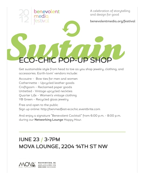 Eco-Chic Pop-Up during Benevolent Media Festival 2012