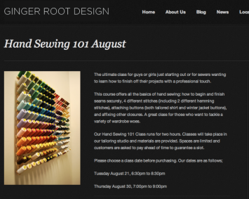 Ginger Root Design Sewing 101