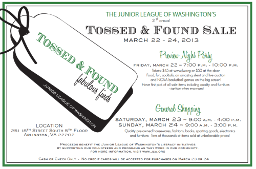 Junior League Tossed and Found 2013